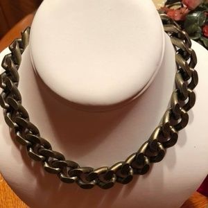 "Beautiful ""French Kande"" Brass Clad Chain Necklace"